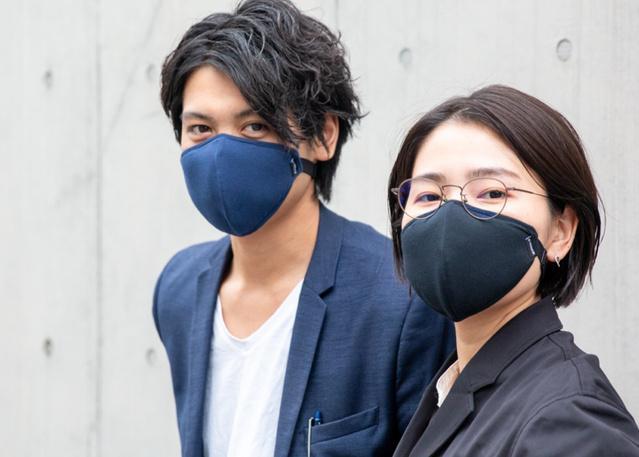 耳 にかけ ない マスク Makuake 耳にかけずにフィットするマスク!雨や汗を弾く、超撥水生地...